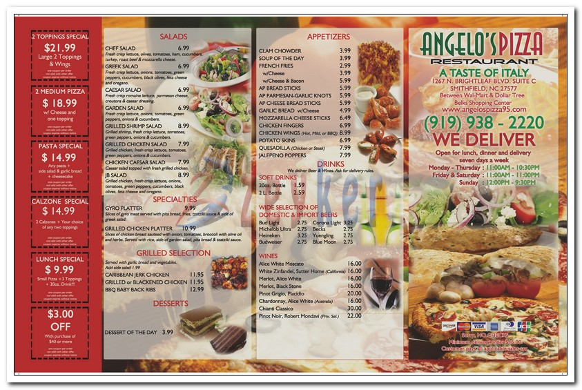 AngelosPizza - Trifold Menu