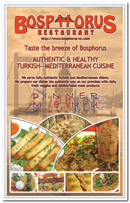 Bosphorus Restaurant - Dinner Menu_Page1