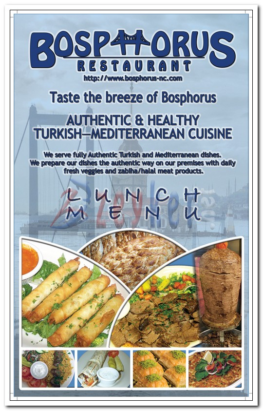 Bosphorus Restaurant - Lunch Menu_Page1