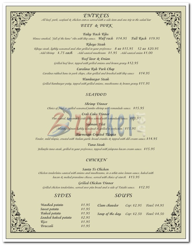 Georges Restaurant - Dine-in Menu_Page2