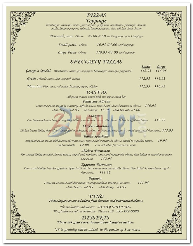 Georges Restaurant - Dine-in Menu_Page3