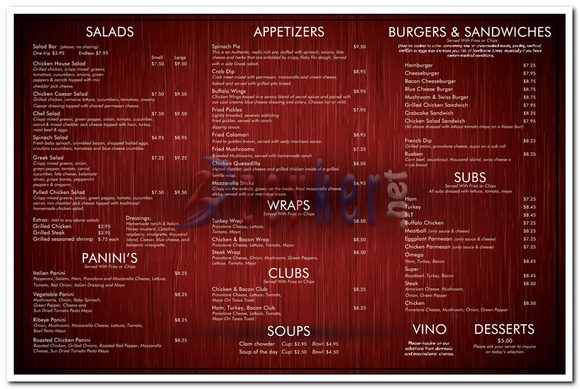 GeorgesRestaurant - TakeOutMenu