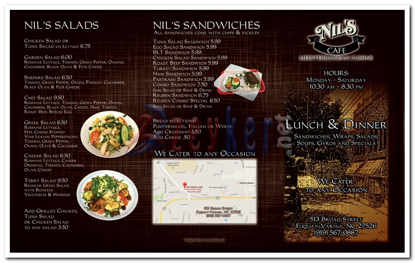 Nils Bakery - TakeOut Menu