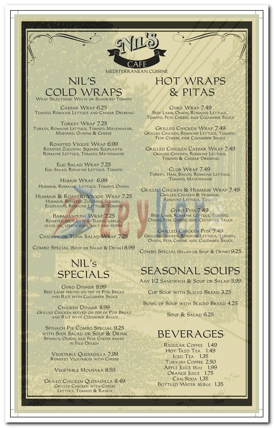Nils Bakery - Dine-in Menu