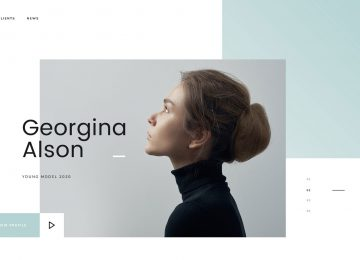 Model Agency Web Design